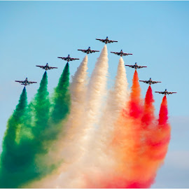 Malta International Airshow 2014 by Norbert Vella - Transportation Airplanes ( red, italian, frecce, malta, green, white, show, planes, airshow,  )