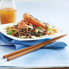 Sushi-Style Soba with Seared Salmon
