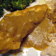 Chicken With Banana Curry Sauce - Caribbean