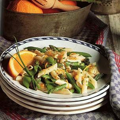 Spring Asparagus and Snap Pea Penne Salad