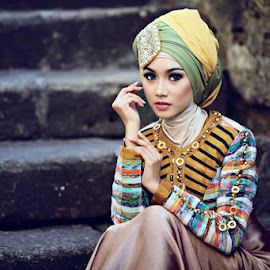 Damaii Damayanti by Bambang Leksmono - People Portraits of Women