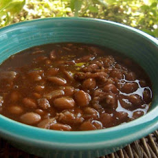 --V's Kicked up Baked Beans (Slow Cooker)