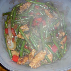 Garlic Chicken Breast With String Beans