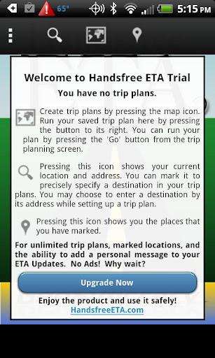 Handsfree ETA Trial