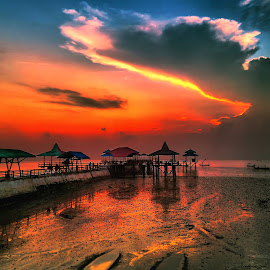 morning flaire by Ahmadz ' - Instagram & Mobile Other ( landscape*beach*boat*kenji*surabaya )