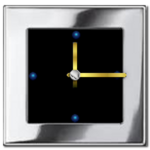 Metal Look Clock widget LOGO-APP點子