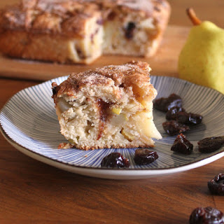 Cranberry Pear Coffee Cake