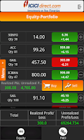 Screenshot of Mobile Trading ICICIdirect.com