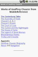 Screenshot of Works of Geoffrey Chaucer