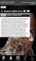 Screenshot of Human Anatomy Atlas SP