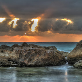 the bug explosion by Marc-Antoine Kikano - Landscapes Sunsets & Sunrises ( water, clouds, hdr, nature, sunset, sea, beach )