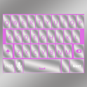 Pink Silver Keyboard Skin icon