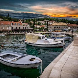 Cavtat, Croatia 003 by IP Maesstro - Transportation Boats ( ip maesstro, hdr, waterscape, croatia, sea, boat, cavtat )
