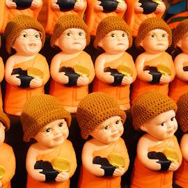 Little Monks Decor by Melanie Navarro - Artistic Objects Still Life