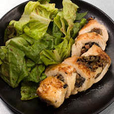 Mushroom-Stuffed Chicken with White Wine Sauce Recipe