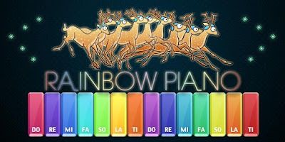 Screenshot of Rainbow Piano