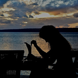 Sunset meal by Mandy Dale - Novices Only Portraits & People