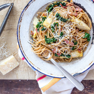Wholewheat Spaghetti With Artichokes And Capers