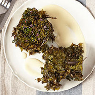 Oven-Roasted Kale Steaks with Gruyere Cheese Sauce