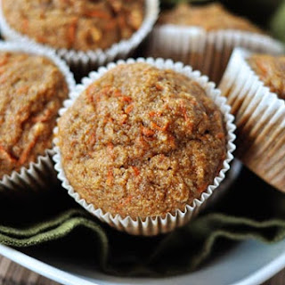 Healthy Applesauce Carrot Muffins {a.k.a. Carrot Cake Muffins}