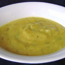 Velvety Yellow Pepper Soup