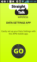 Screenshot of Straight Talk Data Settings