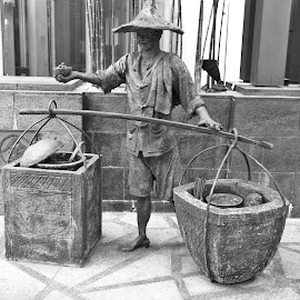 Street Hawker by Koh Chip Whye - City,  Street & Park  Historic Districts (  )