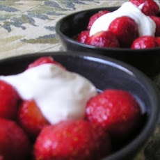 Strawberries with Lime-Ginger Syrup
