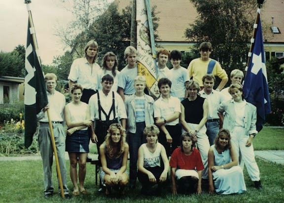 Gruppenfoto zur Bannerweihe 15. August 1988