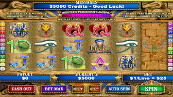 Screenshot of Egypt Reels of Luxor FREE