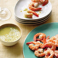 Poached Shrimp with Meyer Lemon Ginger Sauce