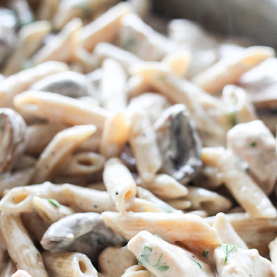 One-Pot Portobello Mushroom Chicken Alfredo