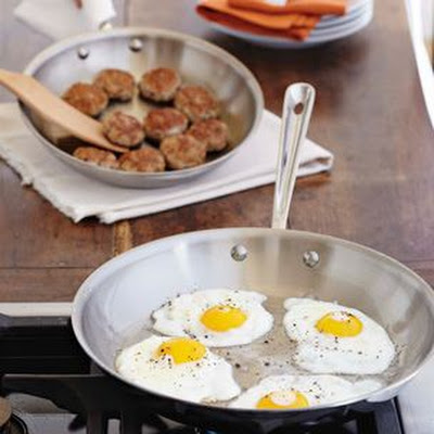 Homemade Breakfast Sausage and Fried Eggs