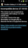 Screenshot of Voodoo Galaxy S III SIM Unlock