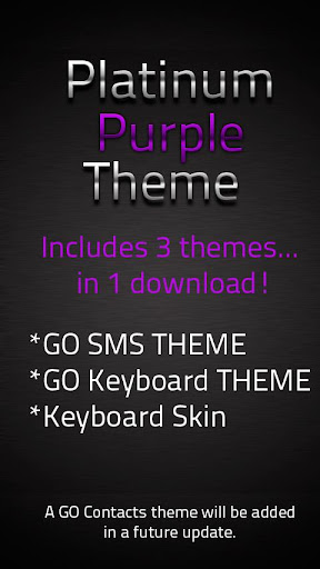 GO SMS Purple Platinum Theme