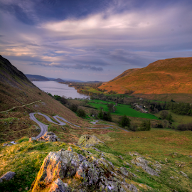 Sunset at Martindale  by Mark Helm - Landscapes Mountains & Hills ( uk, hdr, cumbria, mark helm, sunset, martindale, panorama )