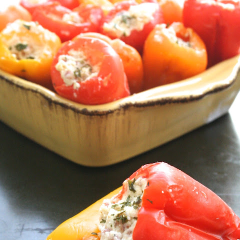 Goat Cheese, Parmesan & Pancetta Stuffed Baby Bell Peppers