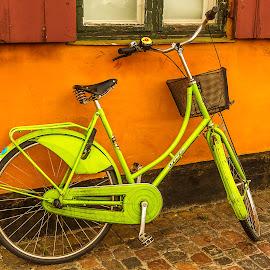 Copenhagen Bicykle by Lee Jorgensen - Transportation Bicycles ( copenhagen, nyboder, bike, wheels, transportation, bicycle )