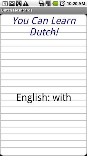 English to Dutch Flashcards