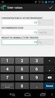 Screenshot of Huvepharma Dose Calculator
