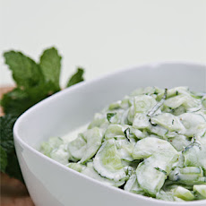 Cucumber Salad with Greek Yogurt and Mint