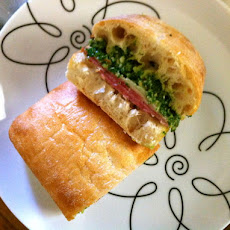 German Salami Sandwiches With Kale Pesto