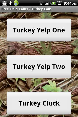 Free Field Caller-Turkey Calls