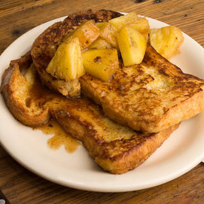 Spiced French Toast with Roasted Pineapple