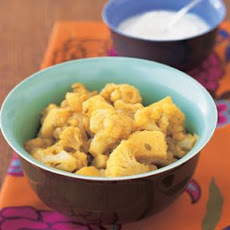Golden Potatoes and Cauliflower with Curry and Fennel Seeds