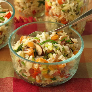 Vegetable Rice Bowls with Parmesan Cheese
