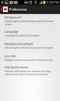 Screenshot of Canada Weather & Radar
