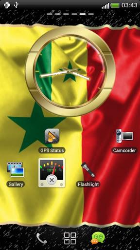 Senegal flag clocks