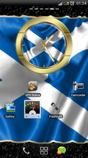 Scotland flag clocks