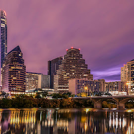 Lady Bird View by Sebastian Hoffman - City,  Street & Park  Skylines ( austin, 78701, town lake, texas, reflections, cityscape, landscape, city )